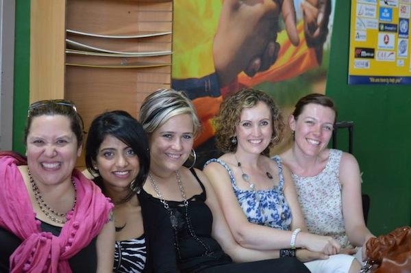 Girls in transit from Uganda to Burundi... books under discussion!