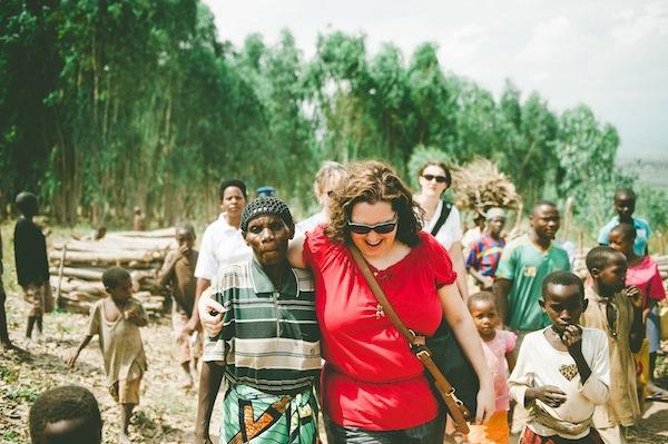 With Batwa friends in Burundi // Photo Credit: Tina Francis