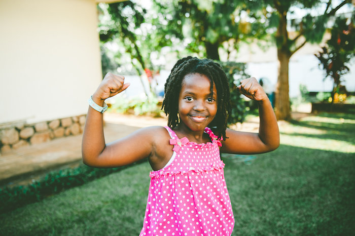 My strong and brave girl. Photo by Tina Francis.